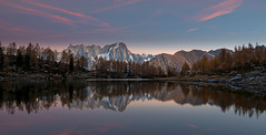 Lake D'Arpy at Sunrise with Mont Blanc Massif on the Background (Palnick) Tags: lake mountain italy landscape water nature sky green travel summer beautiful tourism alps blue alpine scenery hiking europe arpy panorama view scenic valley aosta background outdoor park forest snow rocks mountains peak grass meadow idyllic trees outdoors high reflections isolated space small panoramic river rock val healthy clean natural wild