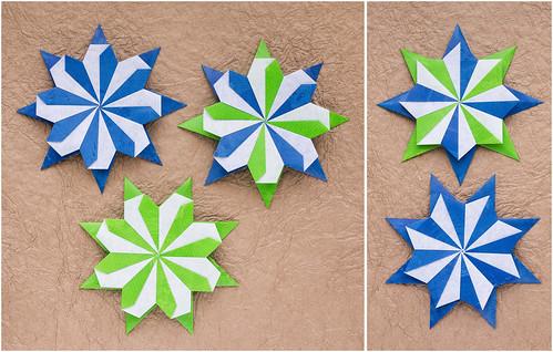 Robin Star by Maria Sinayskaya — Diagram | Origami modulaire ... | 318x499