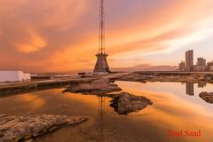 Reflections (Paul Saad) Tags: beirut sunset sunrise dusk dawn nikon lebanon colors sea beach ocean long exposure paul saad waves water