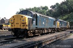 29/08/1984 - Ipswich. (53A Models) Tags: britishrail englishelectric type3 class37 37102 37262 diesel ipswich suffolk train railway locomotive railroad