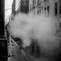 Shadows in the fog (broadswordcallingdannyboy) Tags: nyc ny newyorkcity city usa us america eastcoast newyork copyrightleonreillyphotography light holiday leonreilly eos7d eflens cityscape canon winter newyorkwinter creative lightroom metropolis iconic february2019 donotcopy newyorkstateofmind newyorkminute bw mono blackandwhite mood atmosphere dramatic nycbw newyorkcitybw smoke mist streetshooter rawstreetphotography 24mm realstreetphotography streetphoto leonreillyphotography