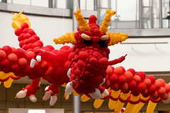 The dragon (michael_hamburg69) Tags: hamburg germany deutschland tibarg tibargcenter mall einkaufscentrum luftballons balloon ballontier ausstellung event drache dragon balloondragon niendorf