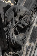 Lion vs. Dragon (michael_hamburg69) Tags: hamburg germany deutschland mahnmal stnikolai nikolaikirche kirche church ruine ruin museum lion dagon fight kampf löwe drache sculpture skulptur portalfigur bauschmuck