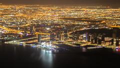 Doha @ Night (Andy.Gocher) Tags: andygocher canon100d canon100dsigma18250 sigma18250 middleeast doha qatar night lights dark city cityscape electricity flying windowseat aeroplaneseat aerial aeroplanewindow