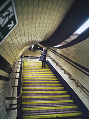 London Underground - Street Photography (Linda Wisdom) Tags: londonstreetphotography photoshoots candid travelstreetphotographer fineartphotography london photography subway metro underground tubestation tfl geometrical yellow lindawisdom londonist thisislondon timeoutlondon streetphotography