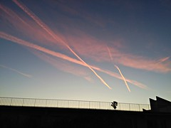 Jet streams & clouds (ok2la) Tags: 20190412193328 jetstream jet stream clouds sky sunlight sunset