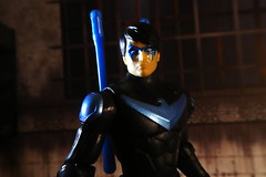 Nightwing (blue escrima variant) (act fotoes) Tags: action figure dc toy batman missions nightwing mattel line blue night