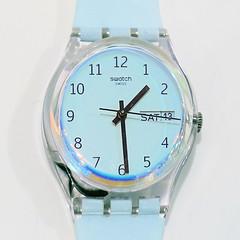 time (andtor) Tags: pastel macromondays hmm swatch hellblau lightblue rx100miii timepiece watch