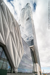 The Shed and 15 Hudson Yards (20190316-DSC08390) (Michael.Lee.Pics.NYC) Tags: newyork hudsonyards vessel theshed publicsquareandgardens architecture cityscape shiftlens sony a7rm2 laowa12mmf28 magicshiftconverter