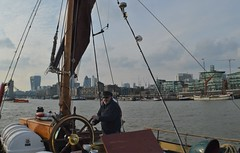SB Lady Daphne (17) @ River Thames 14-04-19 (AJBC_1) Tags: uknationalhistoricfleet nationalhistoricshipuk london riverthames sailingbarge ©ajc ship boat vessel historicship england unitedkingdom uk eastlondon sbladydaphne sailingbargeladydaphne nikond3200 ajbc1 greatbritain gb dlrblog londonboroughoftowerhamlets
