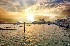 Sunset on the lagoon (Alessandro Giorgi Art Photography) Tags: sunset sundown lagoon laguna tramonto venice venezia italy italia water acqua sun city città colors colori cielo sky