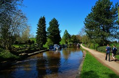 The Canal at Audlem (Eddie Crutchley) Tags: europe england cheshire canal water blueskies boats outdoor sunlight trees shropshireunioncanal narrowboats simplysuperb greatphotographres