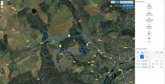 Aperçu de l'itinéraire (Πichael C.) Tags: 140419 randonnée châtel st germain et plateau de rozérieulles rando balade promenade nature metz 57 moselle hike