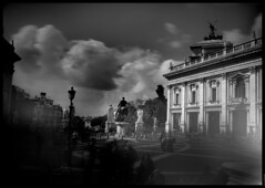 PIAZZA DEL CAMPIDOGLIO   -  ROME (J.P.B) Tags: rome leonardodavinci piazzadelcampidoglio michelangelo roma ローマ 罗马 萊昂納多達芬奇 леонардо да винчи レオナルド・ダ・ヴィンチ longexposure clouds architecture atmosphere black blackandwhite city cloud light mansion monochrome monochromephotography monument outdoors sky statue street town travel urban weather