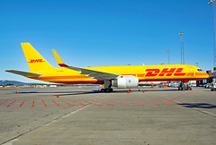 G-DHKC (Skidmarks_1) Tags: boeing757 cargo freighter dhl gdhkc engm norway aviation aircraft airport airliners osl oslogardermoenairport