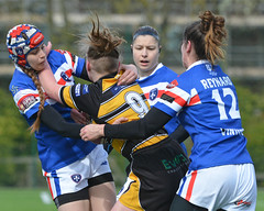 Road Block (Feversham Media) Tags: yorkcityknightsladiesrlfc wakefieldtrinityladiesrlfc womenssuperleague womensrugbyleague rugbyleague york yorkstjohnuniversity