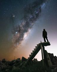 Mini stairway to heaven (astropolo_) Tags: milkyway sky nature night nightphotography longexpo longexposure stairs stair ruins stars star clouds fuji fujifilm selfie argentina