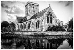 welton church (Mallybee) Tags: fuji fujifilm xt3 church building bw blackandwhite mallybee welton yorkshire outside pond reflections fuginon 18135mm f3556 apsc xmount xtrans xf zoom