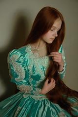 rapuntzel (Melodyphoto3) Tags: photo photography art artphoto fineart vintage bokeh dress fairytale fashion princess canon canon50 canon85 redhead
