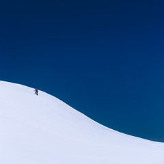 Sky and Snow (One_Penny) Tags: bayern germany schliersee tegernsee bavaria blue canon6d hiking landscape minimal mountains nature people photography sky snow white winter square lines cold outdoorf adventure hike minimalism