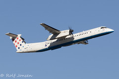9A-CQD Bombardier Dash 8-400 Croatia Airlines Munich airport EDDM 18.02-19 (rjonsen) Tags: plane airplane aircraft aviation airliner turboprop motion blur flying flight departing