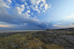 View on Sua Pan from Kubu Island - Makgadikgadi - Kalahari desert – Botswana (lotusblancphotography) Tags: africa afrique botswana suapan makgadikgadi kalahari desert désert nature landscape paysage clouds nuages rocks rochers saltpan