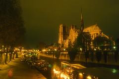 Paris, France: Notre Dame Nocturnal (rocinante11) Tags: paris france notredame cathedral church night longexposure timedexposure ambientlight