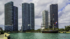The city and the Stad Amsterdam (Aglez the city guy ☺) Tags: sailboat clipper yacht downtownmiami cityscapes urbanexploration walkingaround building architecture afternoon waterways seashore urban sea city clouds outdoors
