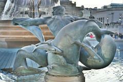Trafalgar Square Fountain Statue (Bri_J) Tags: london uk city capital nikon d7500 fountain statue hdr dolphins siredwinlutyens trafalgarsquare water man