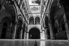 Sponza Palace. Dubrovnik Old Town (NikSut) Tags: croatiadubrovnikoldtownsponza monoart blackandwhiteimage bwmania arches editsbnw monochromatic bwsociety bw bl ackandwhite blackandwhitephotography