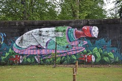 Braga - street art (jaime.silva) Tags: braga portugal portugalia portugalsko portugália portugalija portugali portugale portugalsk portogallo portugalska portúgal portugāle painting paint spraypaint spray spraypainting muralpainting mural pinturamural streetart streetartist graffiti graf urban urbanart arteurbana goncalomar1 goncalomar