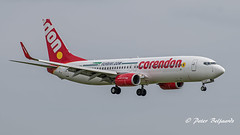 PH-CDH   Boeing 737-800 - Corendon Dutch Airlines (Peter Beljaards) Tags: final inbound landing nikond5500 aviationphotography nikon70300mmf4556 diviair boeing737800 corendon 737 boeing737 b737 phcdh ams eham schiphol aircraft airplane