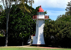 Old Burnett Heads Lighthouse 1873 (Dreaming of the Sea) Tags: lighthouse gumtrees greengrass bluesky bundaberg burnettheads tamronsp2470mmf28divcusd nikond7200
