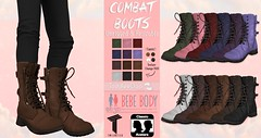 Combat Boots (AmaraRevven) Tags: color me cute colormecuteevent boys bebe badseed baby little princess tweenster tween teen event mesh second life toddleedoo kids unisex unrigged resize