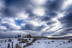 Ashton Idaho area (Pattys-photos) Tags: ashton idaho shed farm snow cloudy pattypickett4748gmailcom pattypickett