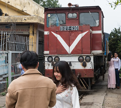 I look good for my Husband to be (dhchivers) Tags: vietnam hanoi railways bride wedding photos