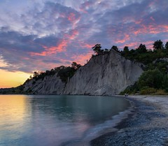 Bluff Sunset (LarryJH) Tags: sunset bluffs scarborough scarboroughbluffs lakeontario water sky clouds cloudscapes cloudappreciation cloud cloudscape
