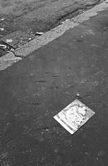 [cartescarti] (robra shotography []O]) Tags: sheet paper rome asfalto road michelangelo strada garbage rubbish decay pietà pavement