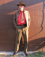 4-16-2019 Today's Clothes (Michael A2012) Tags: this mans spring style vintage fashion champ genuine suede finish fedora hat acrylic cotton wool serge wrangler us army red wing iron ranger amber harness leather
