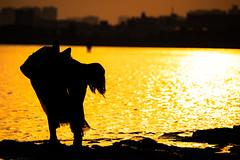 Remember You (ZorbaWong) Tags: sun sunset girl japan sea shadow feeling love