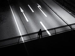 the photographer (Sandy...J) Tags: atmosphere alone light lines man monochrom street streetphotography sw schwarzweis strasenfotografie stadt silhouette shadow blackwhite bw city contrast deutschland darkness germany olympus noir urban photography fotografie absoluteblackandwhite