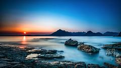 Sunset at Elgol (petebristo) Tags: elgol skye seascape sunset sea long shutter