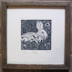 Rabbit Conejo Mixtec Mexico Oaxaca Print (Teyacapan) Tags: print art mexican oaxaca mixtec rabbit conejo animals