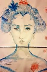 Kanji (franck.sastre) Tags: geisha japan fineart blue art painting picture eyes woman exhibition dulzura