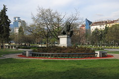 Sofia - Park at the National Palace of Culture (НДК) (lyura183) Tags: българия bulgaria sofia софия capital city garden park statue lion
