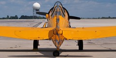 North American (CanCar) Harvard Mk IV trainer, 1952 - Canadian Warplane Heritage Museum, Mount Hope, Ontario (edk7) Tags: olympusomdem5 edk7 2018 canada ontario mounthope hamiltonmunroairport yhm canadianwarplaneheritagemuseum cwhm royalcanadianairforce rcaf northamericanaviationharvardmkiv northamericanaviationat6jtexan northamericanaviationcanadiancarandfoundryharvardmkiv rcafsn20412 cnccf4203 1952 cfvmg advancedtrainer trainer aircraft plane airplane aviation vintage classic military propellor propeller cockpit sky cloud tarmac apron radome radardome coldwar prattwhitneywaspr1340an1ninecylinder22litreradial600hp