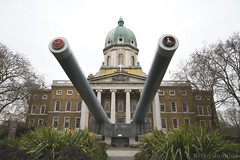 15 Inch Naval Guns and Museum Building (Bri_J) Tags: imperialwarmuseum london uk museum warmuseum iwm 15inch navalguns artillery revengeclass hmsramillies hmsresolution battleship bedlam