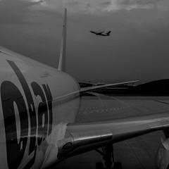 Flyby (R*Wozniak) Tags: aircraft boeing 6x6 b767 blackwhite