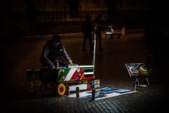 Working the Night Shift (RoamingTogether) Tags: 70200vrii europe italy nikon nikon7020028 nikond700 piazzanavona rome streetperformer