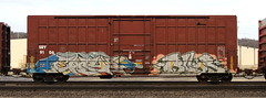 Each/Blur (quiet-silence) Tags: graffiti graff freight fr8 train railroad railcar art each blur boxcar sry sry9106